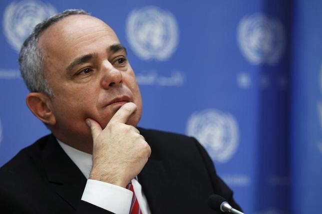Minister of Strategic and Intelligence Affairs for International Relations of Israel Yuval Steinitz attends a news conference after a meeting of the Ad Hoc Liaison Committee during the 68th United Nations General Assembly at U.N. headquarters in New York September 25, 2013. REUTERS/Eduardo Munoz