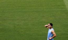 Jogador uruguaio Luis Suárez durante treinamento em Fortaleza. 13/6/2014 REUTERS/Marcelo del Pozo