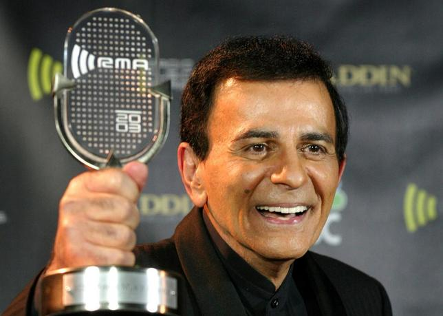 Casey Kasem poses with his Radio Icon Award at the 2003 Radio Music Awards, at the Aladdin Theatre for the Performing Arts in Las Vegas, Nevada, in this October 27, 2003 file photo. REUTERS/Steve Marcus/Files