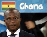 Técnico da seleção de Gana, Kwesi Appiah, durante partida contra os Estados Unidos na Arena das Dunas, em Natal. 16/06/2014.  REUTERS/Toru Hanai