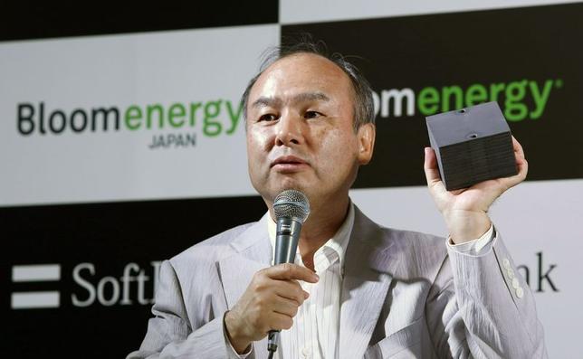 6月17日、ソフトバンクなどは、同社ビルで燃料電池発電システムが稼働したと発表した。写真は孫正義社長。都内で17日撮影(2014年 ロイター/Yuya Shino)