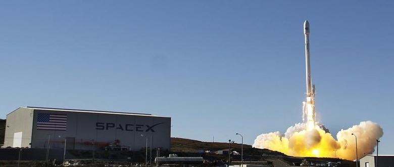 File picture of a Falcon 9 rocket carrying a small science satellite for Canada is seen as it is launched from a newly refurbished launch pad in Vandenberg Air Force Station. REUTERS/Gene Blevins