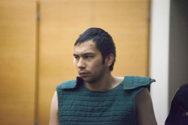 Aaron Ybarra appears in court at the King County Jail in Seattle, Washington June 6, 2014. REUTERS/David Ryder