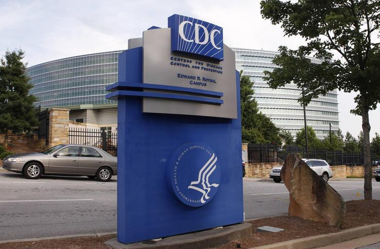 The Centers for Disease Control sign is seen at its main facility in Atlanta, Georgia June 20, 2014. U.S. authorities increased to 84 people their count of government workers potentially exposed to live anthrax at three laboratories in Atlanta as they investigated a breach in safety procedures for handling the deadly pathogen. Researchers in the CDC's high-security Bioterror Rapid Response and Advanced Technology laboratory realized they had sent live anthrax bacteria, instead of what they thought were harmless samples, to fellow scientists in two lower-security labs at the agency.  REUTERS/Tami Chappell