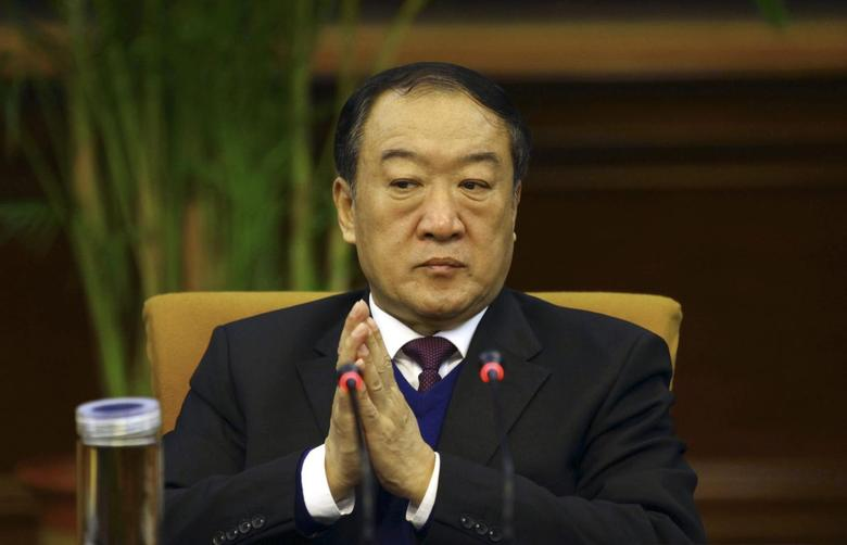 Then Communist Party Secretary of Jiangxi province, Su Rong attends a group discussion during the National People's Congress in Beijing March 6, 2012. REUTERS/Stringer
