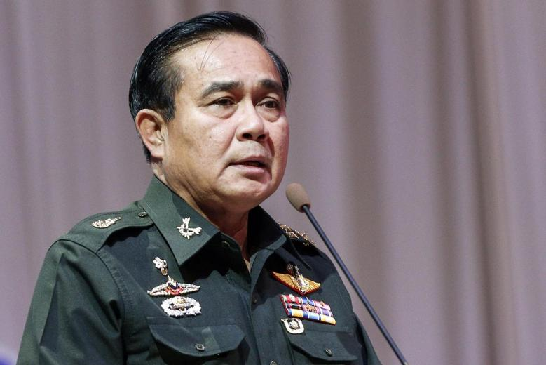 Thai Army chief General Prayuth Chan-ocha speaks at a meeting to discuss the 2015 national budget, at the Army Club in Bangkok June 13, 2014. REUTERS/Athit Perawongmetha