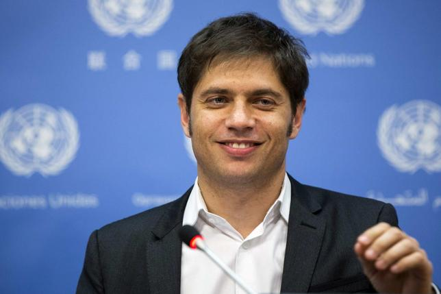 Minister of Economy of Argentina, Axel Kicillof speaks to members of the media after speaking at a meeting of the G77 entitled ''Sovereign Debt Restructuring: The Case of Argentina'' at United Nations headquarters in New York June 25, 2014.  REUTERS/Lucas Jackson