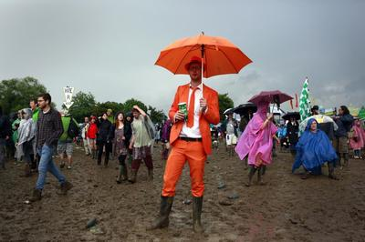 Wet and loud at Glastonbury