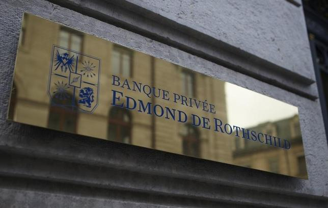 A logo of Banque Privee Edmond de Rothschild is seen on the bank building before a news conference for the group's 2010 results, in Geneva March 31, 2011.  REUTERS/Denis Balibouse