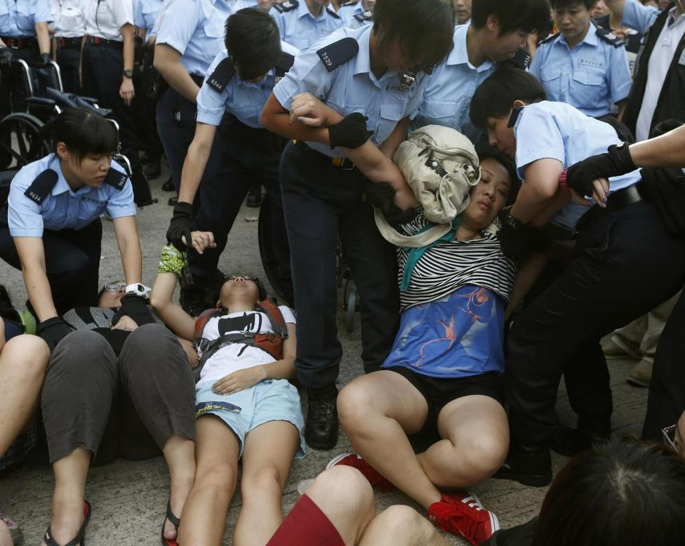 Hong Kong marches for democracy