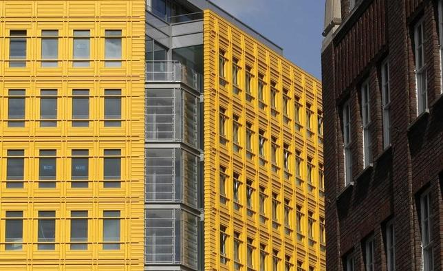 A new apartment block is pictured in central London May 9, 2011. REUTERS/Luke MacGregor