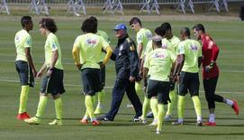 Seleção brasileira treina em Teresópolis em 7 de julho de 2014. REUTERS/Marcelo Regua