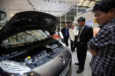 Renault compte porter sa capacité de production en Chine à 500.000-600.000 unités par an, a déclaré le directeur financier du constructeur automobile  Dominique Thormann, mardi lors du forum Europlace. /Photo d'archives/REUTERS/Aly Song