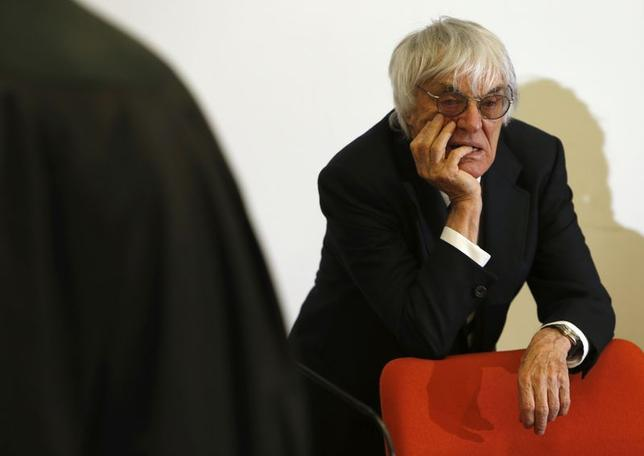 Formula One Chief Executive Bernie Ecclestone arrives in court in Munich July 2, 2014.   REUTERS/Michaela Rehle