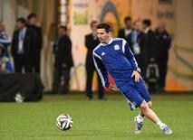 Craque argentino Lionel Messi durante treino em São Paulo. 8/7/2014 REUTERS/Dylan Martinez