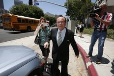 Donald Sterling's lawyer Max Blecher arrives at court in Los Angeles, California July 8, 2014.REUTERS/Lucy Nicholson