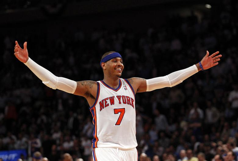 6: New York Knicks forward Carmelo Anthony earns $30.4 million, consisting of $21.4 million in salary and $9 million in endorsements. REUTERS/Mike Segar