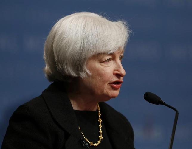 U.S. Federal Reserve Chair Janet Yellen delivers remarks at the inaugural Michel Camdessus Central Banking Lecture at the International Monetary Fund in Washington July 2, 2014. REUTERS/Gary Cameron