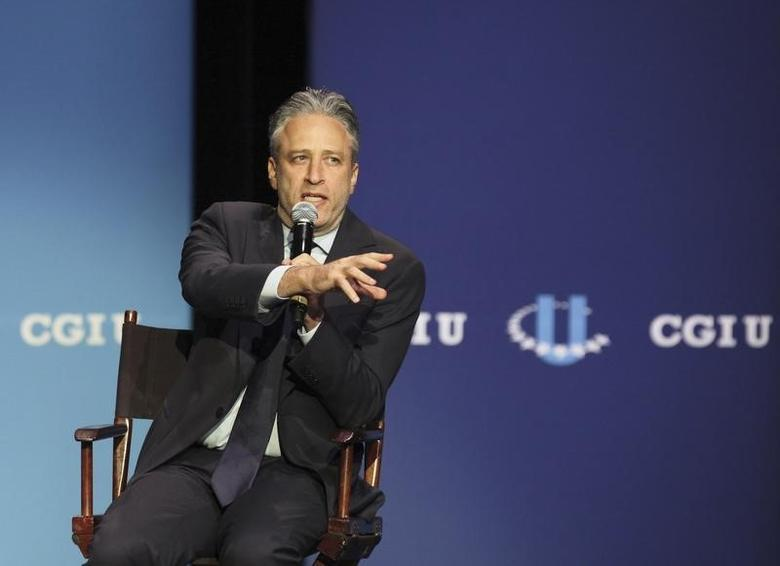 Jon Stewart, host and executive producer of ''The Daily Show with Jon Stewart'', speaks during the closing session of the 2012 Clinton Global Initiative University Meeting at George Washington University in Washington, DC, March 31, 2012. REUTERS/Chris Kleponis