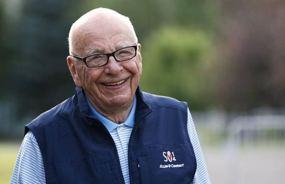 Rupert Murdoch, CEO of News Corporation, arrives for the third day of the Allen and Co. media conference in Sun Valley, Idaho July 11, 2014. REUTERS/Rick Wilking/Files