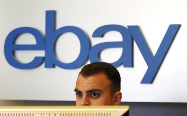An eBay sign is seen in an eBay office space in San Jose, California May 28, 2014. REUTERS/Beck Diefenbach