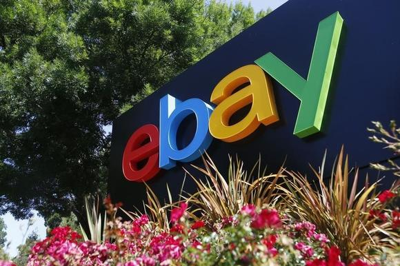 An eBay sign is seen at an office building in San Jose, California May 28, 2014. REUTERS/Beck Diefenbach/Files
