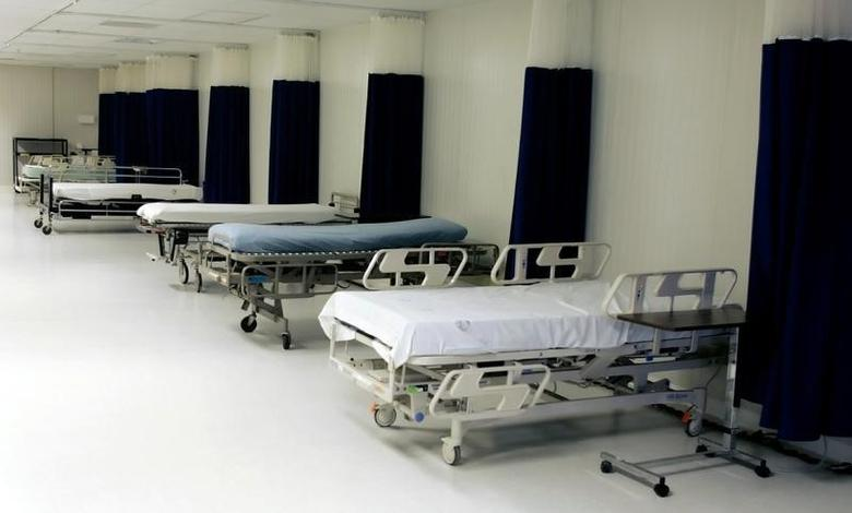Hospital beds are seen at Camp Delta where some detainees have been tube-fed while participating in hunger strikes at the U.S. Naval Base Guantanamo Bay, Cuba in this January 18, 2006 file photo.