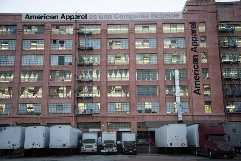 The American Apparel factory headquarters is pictured in Los Angeles, California in this file photo taken July 7, 2014. REUTERS/Jonathan Alcorn /files