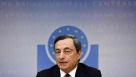 European Central Bank (ECB) President Mario Draghi speaks during the bank's monthly news conference in Frankfurt July 3, 2014. REUTERS/Ralph Orlowski