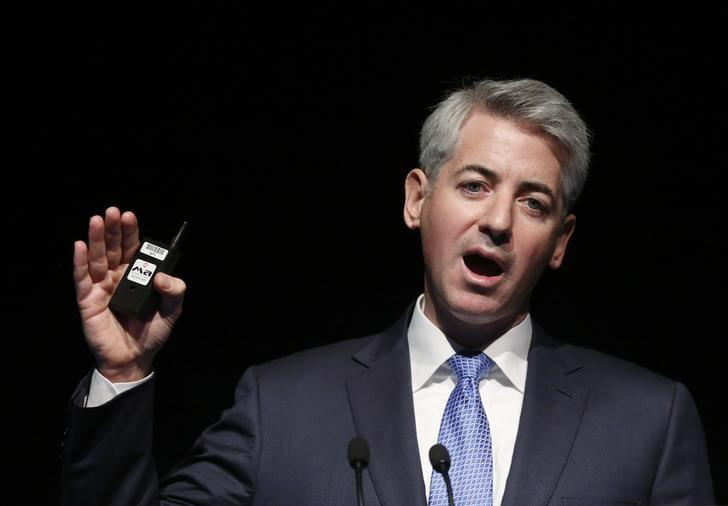 Bill Ackman, chief executive officer and portfolio manager of Pershing Square Capital Management, L.P., speaks at the Ira Sohn Investment Conference in New York, May 8, 2013. REUTERS/Brendan McDermid (UNITED STATES - Tags: BUSINESS)