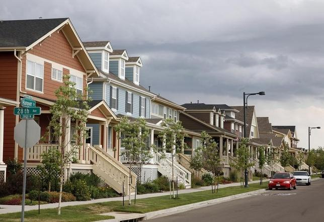 Houses stand in a tight row in Denver's Stapleton in a file photo.    REUTERS/Rick Wilking