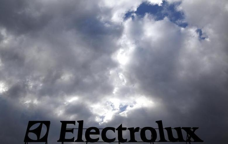 An Electrolux logo is seen at a factory in Porcia, northern Italy, February 28, 2014.  REUTERS/Stefano Rellandini