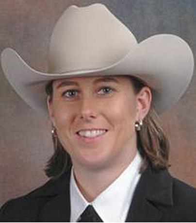 Texas Ranger Wende Wakeman is seen in an undated picture released by the Texas Department of Public Safety on July 18, 2014.  REUTERS/Texas Department of Public Safety/Handout via Reuters