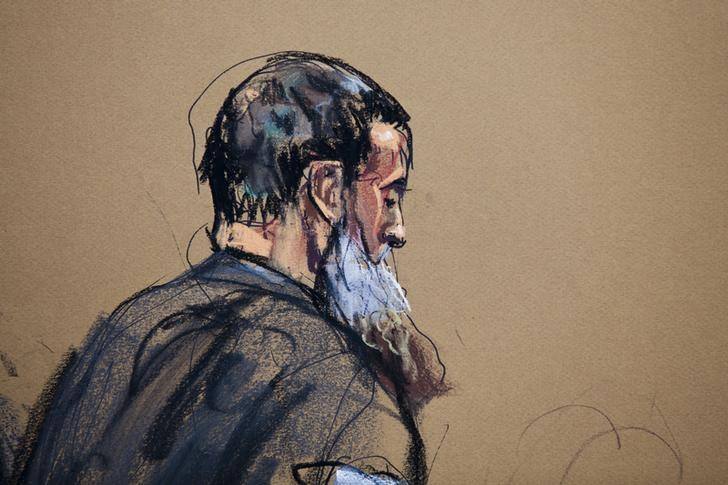 A courtroom sketch shows Nazih al-Ragye known by the alias Abu Anas al-Liby as he appears in Manhattan Federal Court for an arraignment in New York, October 15, 2013 file photo.  REUTERS/Jane Rosenberg
