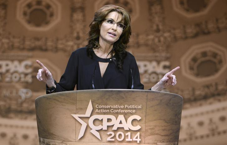 Former Alaska Governor Sarah Palin makes remarks to the Conservative Political Action Conference (CPAC) in Oxon Hill, Maryland, March 8, 2014.     REUTERS/Mike Theiler