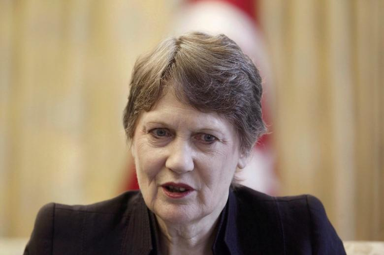 United Nations Development Programme (UNDP) Administrator Helen Clark speaks during an interview with Reuters in Istanbul June 20, 2014.    REUTERS/Osman Orsal