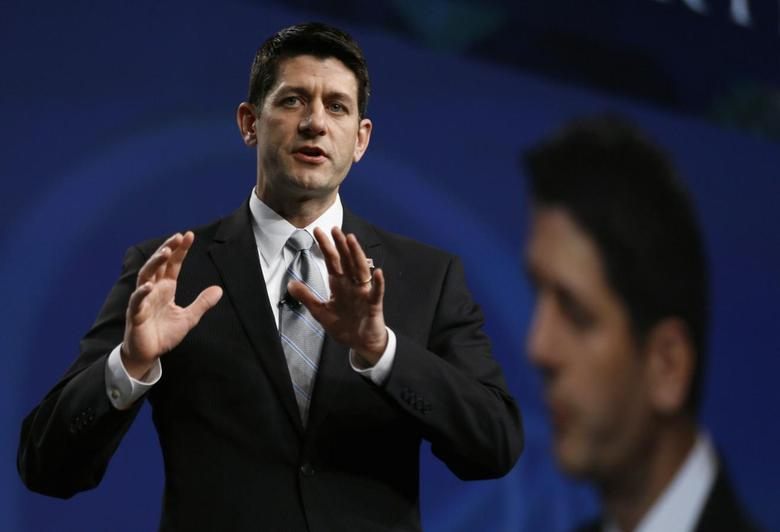 Paul Ryan, U.S. congressman (R-WI), speaks at the SALT conference in Las Vegas in this May 16, 2014 file photograph. REUTERS/Rick Wilking/Files