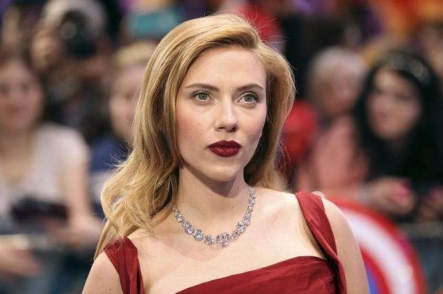 Actress Scarlett Johansson  at Shepherds Bush in London March 20, 2014. REUTERS/Paul Hackett