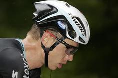 Omega Pharma-Quick Step team rider Tony Martin of Germany cycles to win the 170-km ninth stage of the Tour de France cycling race between Gerardmer and Mulhouse July 13, 2014.  REUTERS/Jacky Naegelen