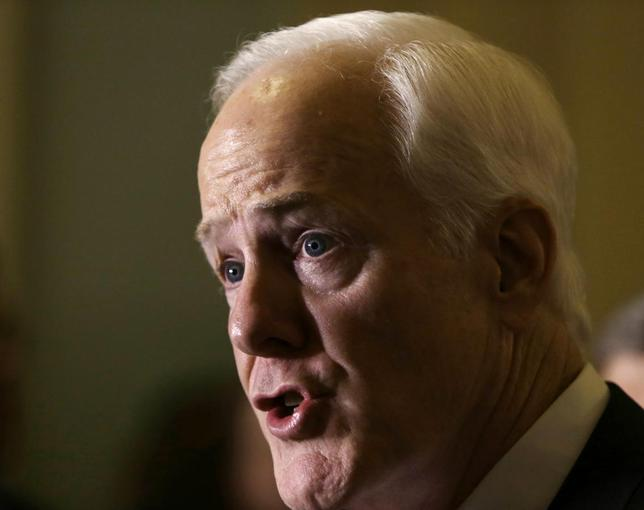 United States Senator John Cornyn (R-TX) talks to reporters on the immigration crisis in Texas on Capitol Hill  in Washington July 8, 2014. REUTERS/Gary Cameron