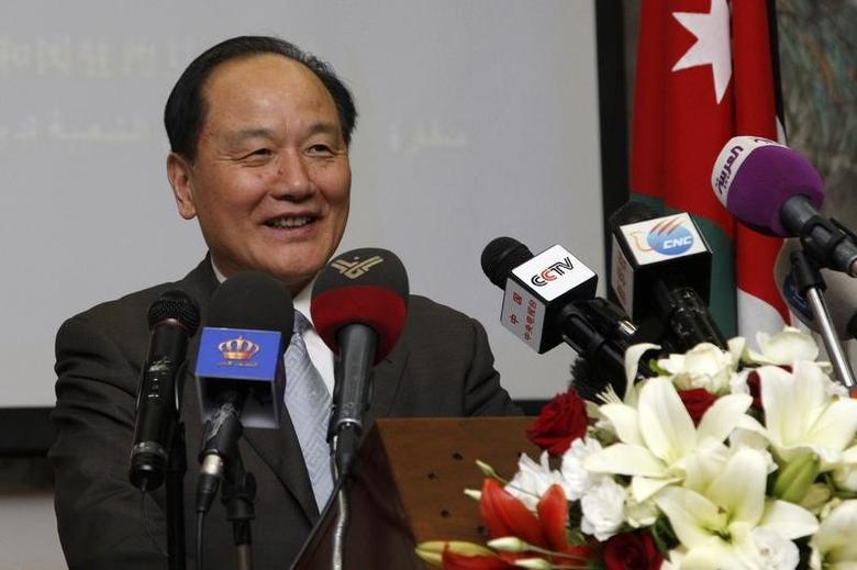 Wu Sike, China's Middle East Envoy, talks during his news conference at the Chinese Embassy in Amman May 29, 2013. REUTERS/Mjed Jaber