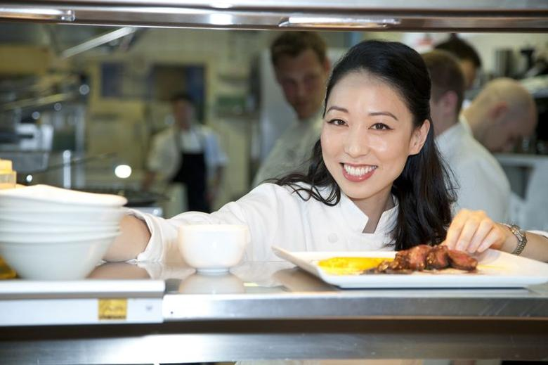 Korean-American chef Judy Joo is seen in the kitchen of the Playboy Club London in an undated photo provided by The Brooks Group on June 30, 2014.   REUTERS/Playboy Club London/Handout via Reuters