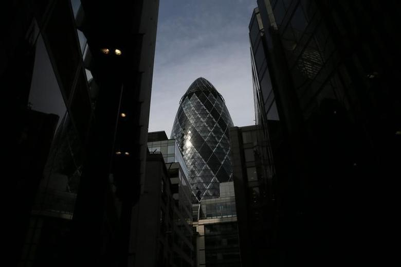 The 30 St Mary Axe skyscraper, which is known locally as ''The Gherkin'' is seen in London April 24, 2014.REUTERS/Stefan Wermuth
