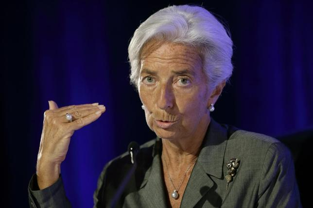 International Monetary Fund Managing Director Christine Lagarde speaks during a conference about the future of the Euro zone organized by the Robert Schuman foundation in Paris July 18, 2014.    REUTERS/Philippe Wojazer