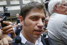 Ministro da Economia da Argentina, Axel Kicillof, após reunião em Nova York. 7/07/2014. REUTERS/Shannon Stapleton