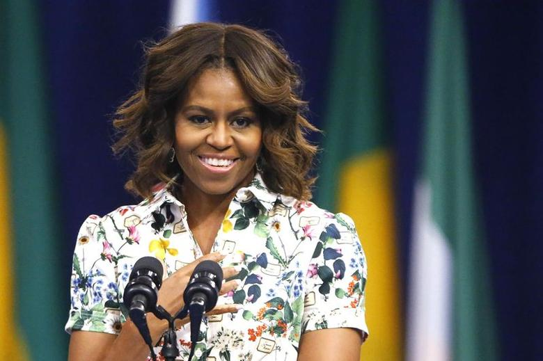 U.S. first lady Michelle Obama delivers remarks at the Summit of the Washington Fellowship for Young African Leaders in Washington July 30, 2014. REUTERS/Jonathan Ernst
