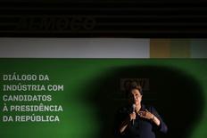 Presidente Dilma Rousseff participa de evento com emprsários na sede da CNI em Brasília. 30/07/2014.  REUTERS/Ueslei Marcelino