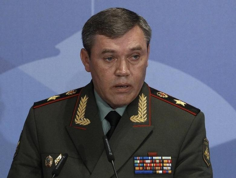 Russian armed forces Chief-of-Staff Valery Gerasimov delivers a speech during a conference titled Military and Political Aspects of European Security in Moscow May 23, 2013. REUTERS/Sergei Karpukhin