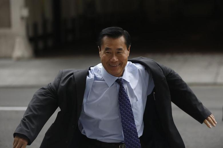 Suspended California State Senator Leland Yee arrives at the Phillip Burton Federal Building for his arraignment hearing in San Francisco, California July 31, 2014. REUTERS/Stephen Lam