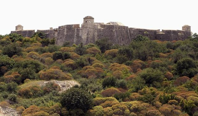The castle of Ali Pasha Tepelena is seen in Porto Palermo, some 235 km (147 miles) south of capital Tirana May 28, 2014. REUTERS/Arben Celi/Files